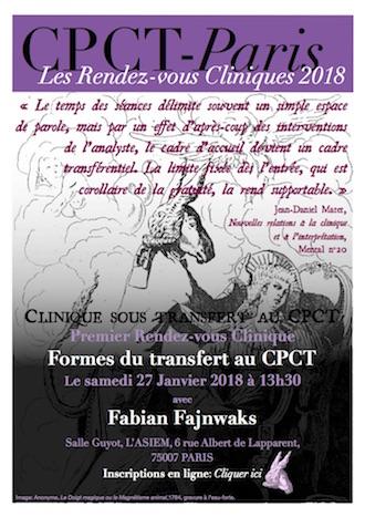 Premier rendez-vous clinique : Formes du transfert au CPCT