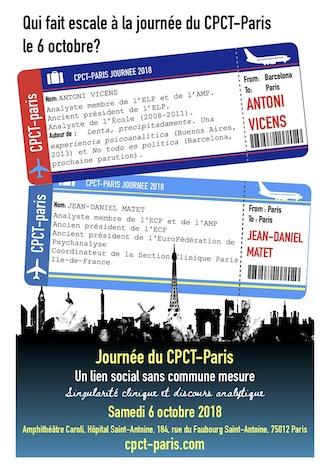 Qui fait escale à la journée du CPCT-Paris le 6 octobre ?