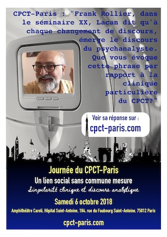 Une question à Frank Rollier – VIDEO – Journée du CPCT-Paris – samedi 6 octobre 2018