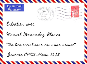 Entretien avec Manuel Fernandez-Blanco – Journée du CPCT-Paris – samedi 6 octobre 2018