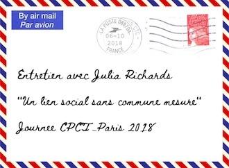 Entretien avec Julia Richards – Journée du CPCT-Paris – samedi 6 octobre 2018