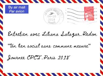 Entretien avec Liliana Salazar-Redon – Journée du CPCT-Paris – samedi 6 octobre 2018