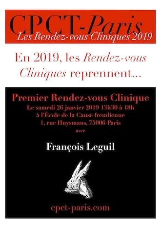 Premier rendez-vous clinique de l'année avec François Leguil le 26 janvier 2019 !