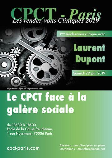 Le Cpct-Paris face à la galère sociale – Rendez-vous clinique avec Laurent Dupont (29 juin 2019)
