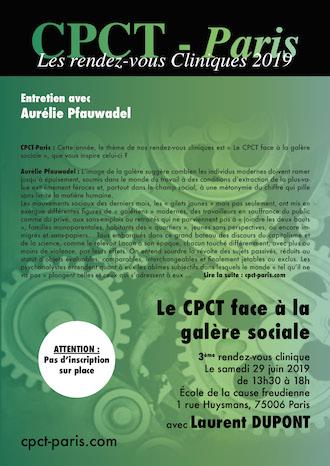 Entretien avec Aurélie Pfauwadel – Le Cpct-Paris face à la galère sociale – Rendez-vous clinique avec Laurent Dupont (29 juin 2019)